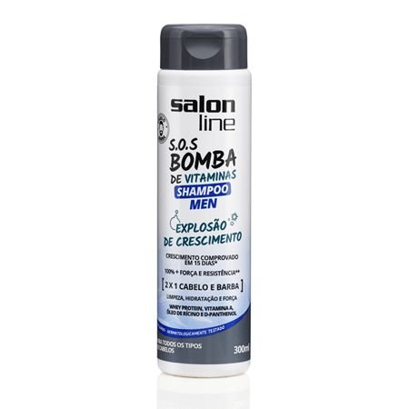 Salon Line SOS Bomba Men Shampoo 2 x 1 AntiCaspa 300ml