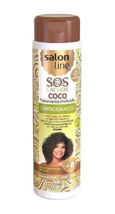 SALON LINE SOS Cachos Coco Condicionador Vegano 300ml