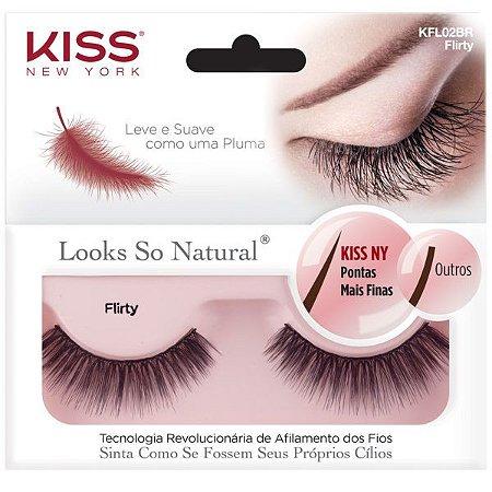 KISS NEW YORK Cílios Postiços Looks So Natural Flirty (KFL02BR)