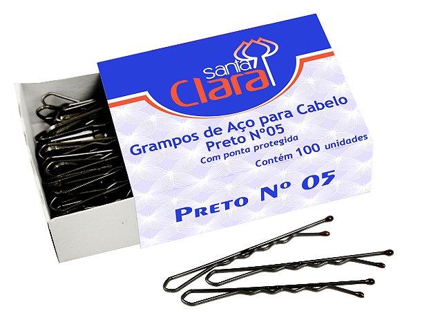 Santa Clara Grampo #5 Preto 100Un (122)