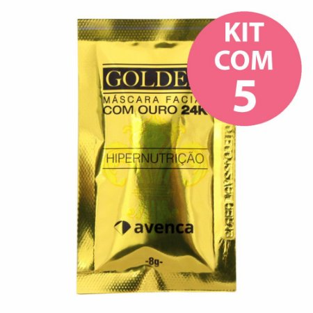 Avenca Golden Máscara Facial Ouro 24k 8g - 5 unidades