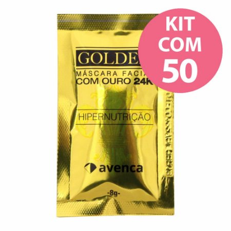 Avenca Golden Máscara Facial Ouro 24k Kit com 50 - 8g