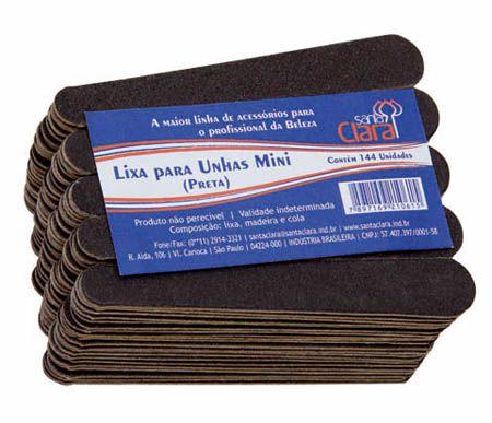 SANTA CLARA Lixa Mini Preta 144Un (1061)