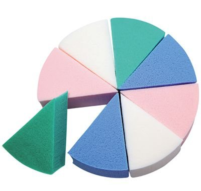 Santa Clara Esponja para Limpeza Facial Modelo Pizza Colorida Importada 8un (1105)