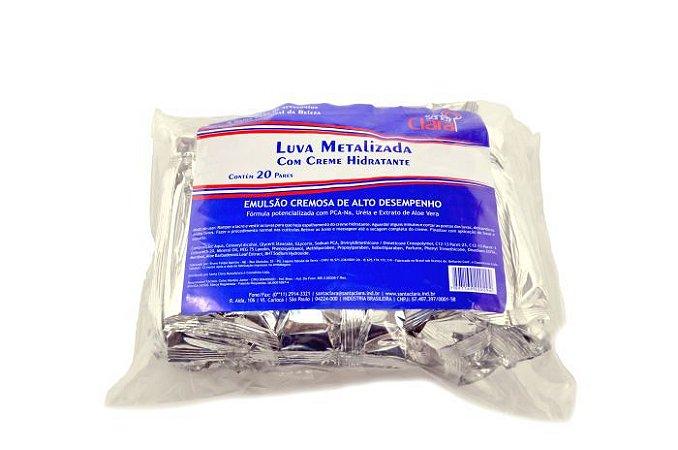 Santa Clara Luva Metalizada c/Creme Hidratante 20Pares(2029)