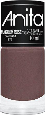 Anita Esmalte Cremoso Marrom Rosé