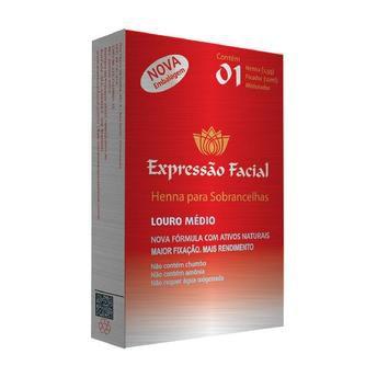 Expressão Facial Henna Sobrancelhas - Louro Médio - 2,5g