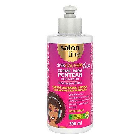 SALON LINE SOS Cachos Teen Creme para Pentear Definidor 300ml