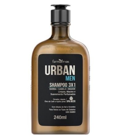 Urban Men Shampoo 3x1- 240ml