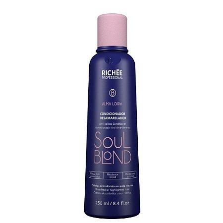 Richée Soul Blond Alma Loira Condicionador Desamarelador - 250ml