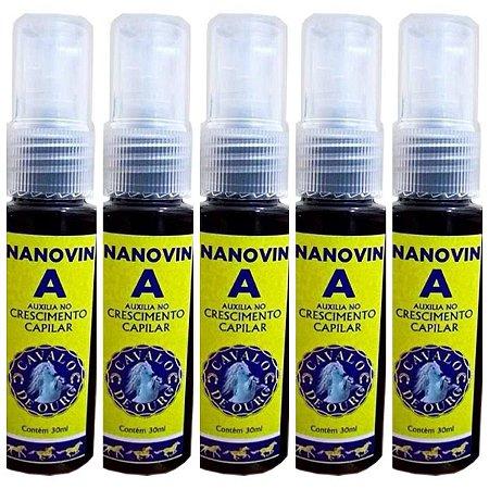 Nanovin A - Kit com 5 - Tratamento de Crescimento Capilar - 30ml