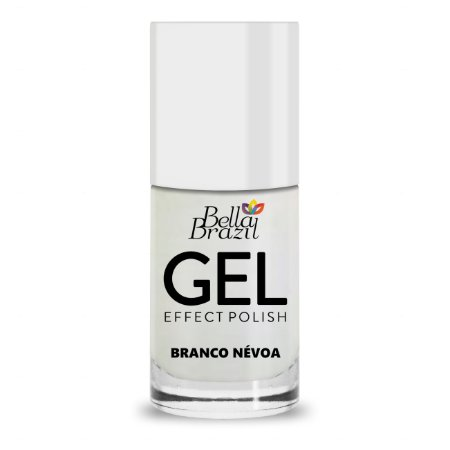 Bella Brazil Esmalte Efeito Gel Branco Névoa 8ml