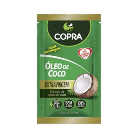 Copra Óleo de Coco Extravirgem Sache 15ml - 10 unidades