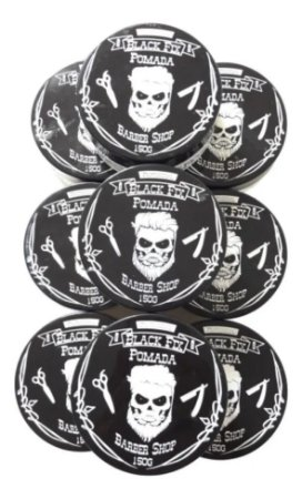 BLACK FIX Pomada Modeladora Barber Shop Incolor 150g Kit 12un