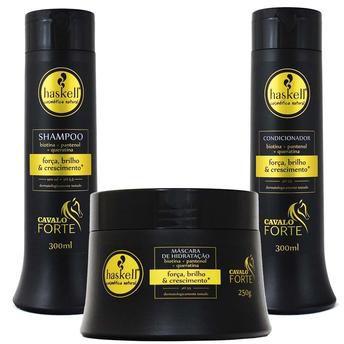 Haskell Cavalo Forte Shampoo+Condicicionador Crescimento Capilar 300ml + Máscara 250g