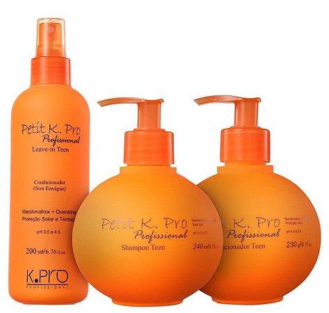 K.PRO Petit Teen Shampoo 240ml + Condicionador 230g + Leave-in 200ml