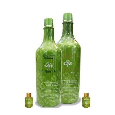 Inoar Argan Oil Shampoo + Condicionador 1l + 2 Óleos Capilares 7ml