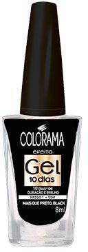 Colorama Esmalte Efeito Gel 10 dias Mais que Preto, Black!