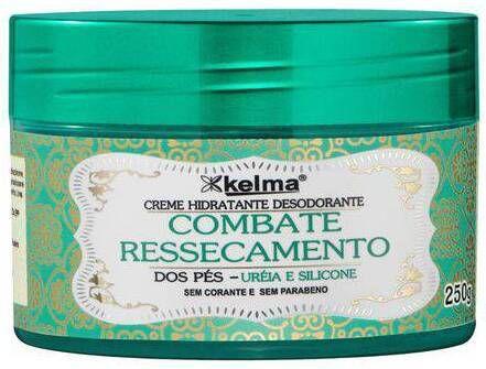 Kelma Creme Hidratante Desodorante para os Pés Combate o Ressecamento 250g