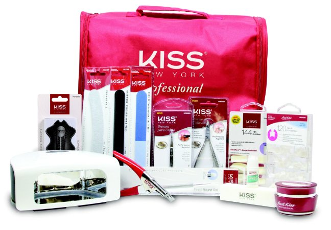 Kiss New York Kit Profissional Gel e Acrygel Components com Cabine de LED inclusa (KPSET03NBR)
