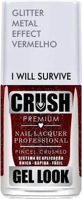 Crush Gel Look Esmalte Glitter Metal Effect I Will Survive