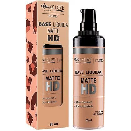 MAX LOVE Studio Base Líquida Matte HD 15 Bege Claro 1 35ml