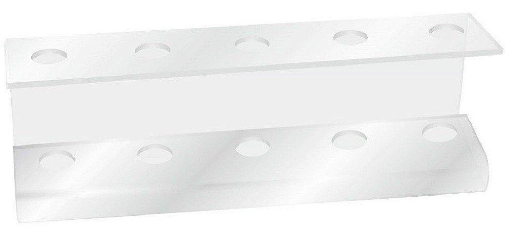 Santa Clara Suporte para Escovas de Cabelo em Acrílico Transparente 5 posições (4323)
