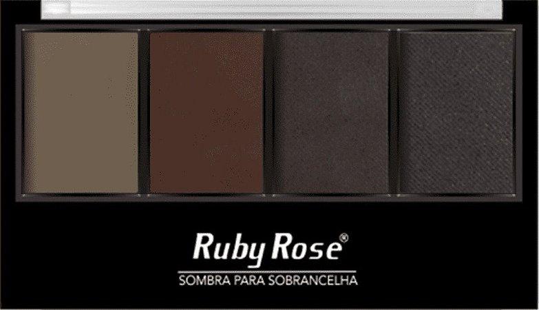 Ruby Rose Paleta de Sombras para Sobrancelha C1 + Primer HB-9354