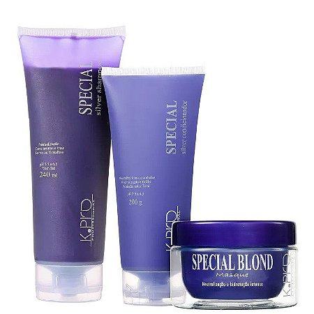 K.PRO SPECIAL Silver Shampoo + Condicionador + Blond Masque