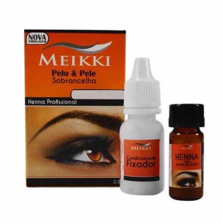 Meikki Henna para Sobrancelha Preto 2,5g