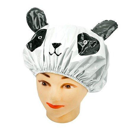 SANTA CLARA Touca para Banho Infantil Perfumada em PVC Branca (4975)