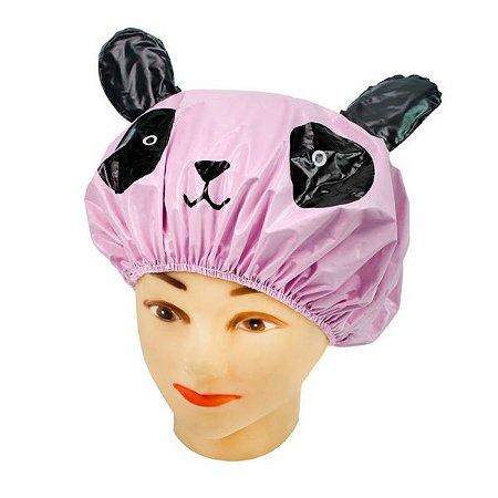 SANTA CLARA Touca para Banho Perfumada Modelo Infantil em PVC Rosa (4974)