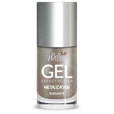 BELLA BRAZIL Esmalte Efeito Gel Metalizado Elegante 8ml