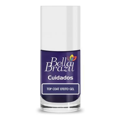 BELLA BRAZIL Esmalte Cuidados Efeito Gel Top Coat 8ml