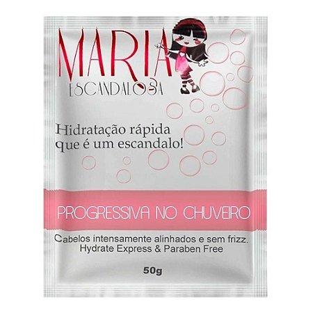 MARIA ESCANDALOSA Máscara Capilar Progressiva no Chuveiro Sache 50g
