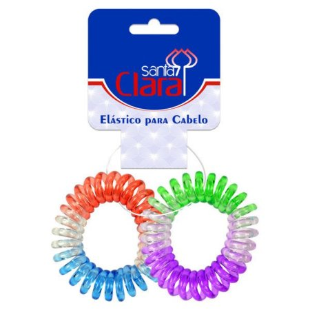 Santa Clara Elástico Plástico para Cabelo Ref.R-1800 Importado 2un (3288)