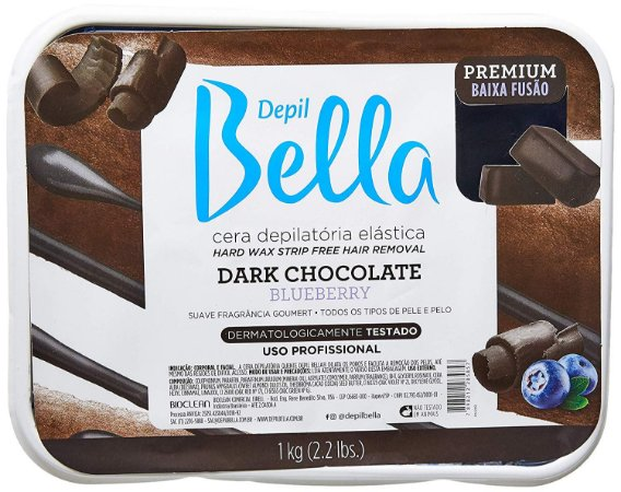 DEPIL BELLA Cera Depilatória Elástica Premium Dark Chocolate e Blueberry 1Kg