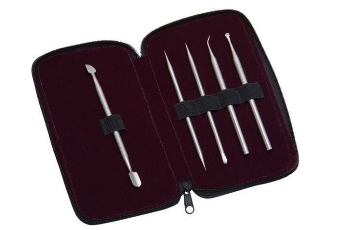 SANTA CLARA Estojo para Manicure Profissional 5 peças (0290)
