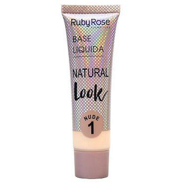 RUBY ROSE Base Líquida Natural Look HB-8051 Nude 1 29ml