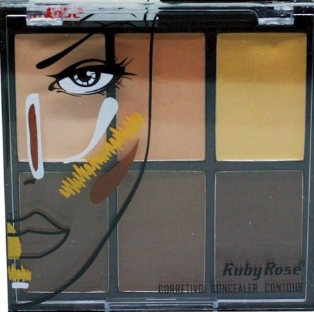 RUBY ROSE Corretivo Concealer Contour 6 Cores Light HB-8088