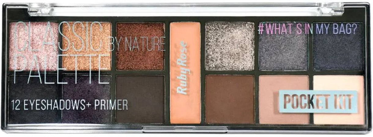 RUBY ROSE Paleta de Sombras Pocket Kit #What's in My Bag? Classic by Nature HB-9943
