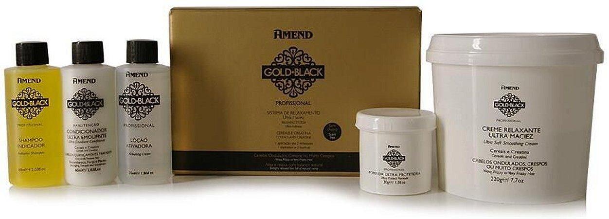 Amend Gold Black Kit Relaxamento Guanidina 1 Aplicação / 2 Retoques