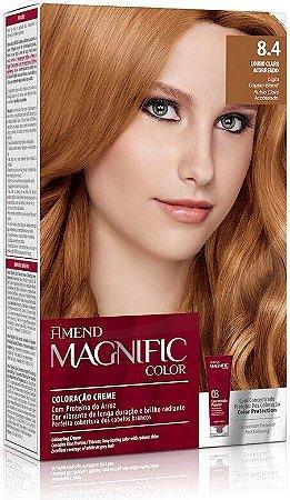 AMEND Magnific Color Coloração 8.4 Louro Claro Acobreado