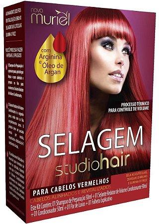 Muriel Studio Hair Selagem para Cabelos Vermelhos