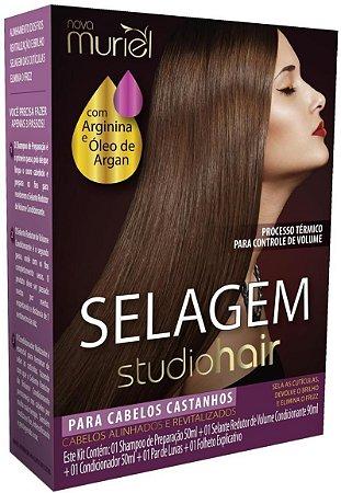 Muriel Studio Hair Selagem para Cabelos Castanhos