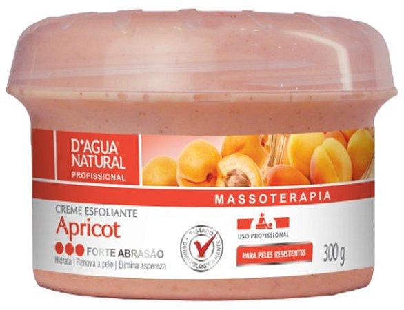 D'Água Natural Massoterapia Creme Esfoliante Apricot Forte Abrasão 300g