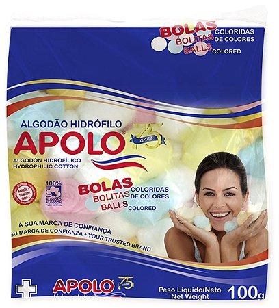 APOLO Algodão Hidrófilo Bolas Coloridas 100g
