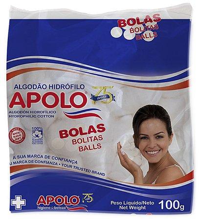 APOLO Algodão Hidrófilo Bolas Brancas 100g