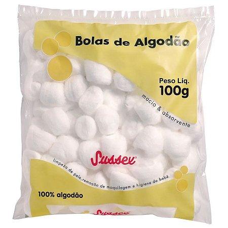 SUSSEX Algodão Bolas Brancas 100g