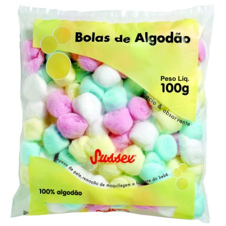 Sussex Algodão Bolas Coloridas 100g